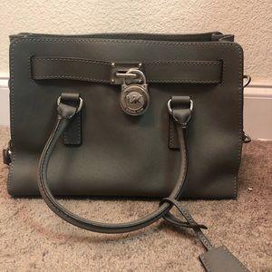 Grey leather Michael Kors Purse